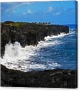 Hawaii Ocean Coast 2 Canvas Print