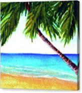 Hawaiian Beach Palm Trees  #425 Canvas Print