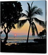 Hawaiian Big Island Sunset  Kailua Kona  Big Island  Hawaii Canvas Print