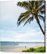 Hawaiian Boy Fishing Canvas Print