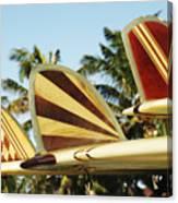 Hawaiian Design Surfboards Canvas Print