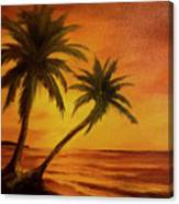 Hawaiian Sunset #380 Canvas Print