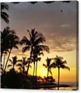 Hawaiian Sunset Design Canvas Print