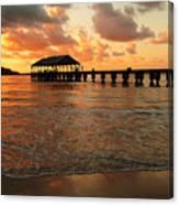 Hawaiian Sunset Hanalei Bay 1 Canvas Print