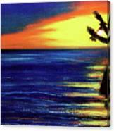 Hawaiian Sunset With Hula Dance  #183, Canvas Print