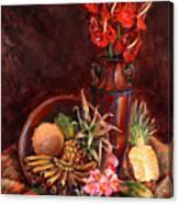 Hawaiian Tropical Fruit Still Life Canvas Print