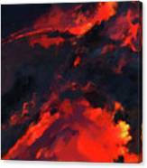 Hawaiian Volcano Lava Flow Canvas Print