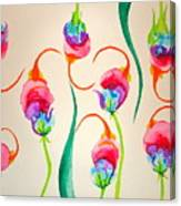 Hawaiian Warrior Upside-down Flowers Canvas Print