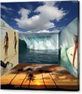 Hawaiian Zen Room Canvas Print