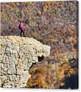 Hawksbill Crag In Autumn Canvas Print
