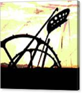Hay Cutter Silhouette Canvas Print