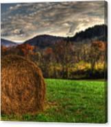 Hay Fall Canvas Print
