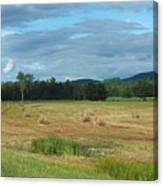 Hay Fields In The Adirondacks Canvas Print