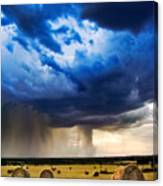 Hay In The Storm Canvas Print