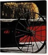 Hay On Wheels Canvas Print