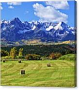 Hay With A View Canvas Print