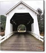 Hayden Bridge Covered Bridge Canvas Print