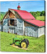 Hayesville Barn And Tractor Canvas Print