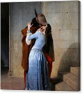 Hayez, The Kiss Canvas Print