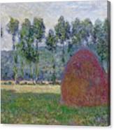 Haystack At Giverny, 1885 Canvas Print