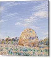Haystack On The Banks Of The Loing Canvas Print