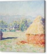 Haystacks In The Sun Canvas Print