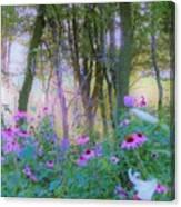 Hazy Garden Sunrise Canvas Print