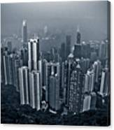 Hazy Hong Kong Canvas Print