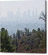 Hazy L.a. Canvas Print