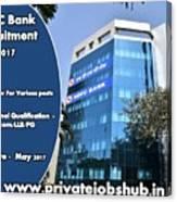 Hdfc Bank Recruitment Canvas Print