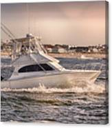 Hdr Fishing Boat Ocean Beach Beachtown Boadwalk Scenic Photography Photos Pictures Boating Sea Pics Canvas Print