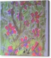 Hds-acrylic Floral Green Canvas Print