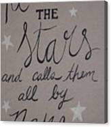 He Counts The Stars Canvas Print