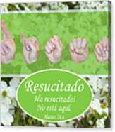 He Is Risen Spanish Canvas Print