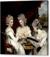 he Ladies Waldegrave Canvas Print