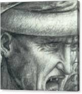 Head Of A Warrior, Copy Of A Detail From The Battle Of Anghiari Canvas Print