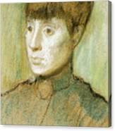 Head Of A Woman  Canvas Print