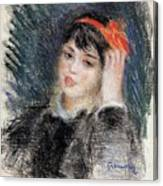 Head Of A Young Woman - 1878 -1880 Pierre-auguste Renoir Canvas Print