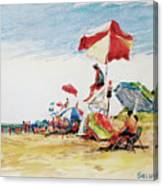 Head  Of The Meadow Beach, Afternoon Canvas Print