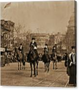 Head Of Washington D.c. Suffrage Parade Canvas Print