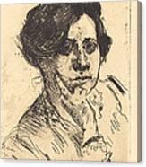 Head Of Woman (frauenkopf) Canvas Print