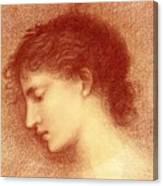 Head Study Of Maria Zambaco The Wine Of Circe Canvas Print
