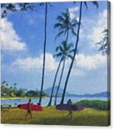 Heading Out To Surf Canvas Print
