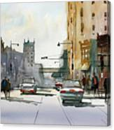 Heading West On College Avenue - Appleton Canvas Print