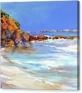 Headland At Lowtide.. Canvas Print