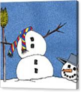 Headless Snowman Canvas Print