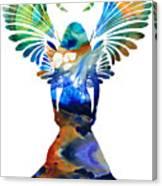 Healing Angel - Spiritual Art Painting Canvas Print