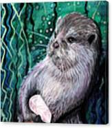 Healing Otter Canvas Print