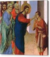 Healing The Man Born Blind Fragment 1311 Canvas Print