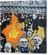 Hear No Evil See No Evil Judicial Abuse Canvas Print
